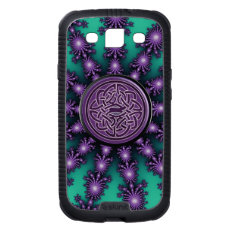 Green Purple Star Fractal with Celtic Knot Case Galaxy S3 Covers