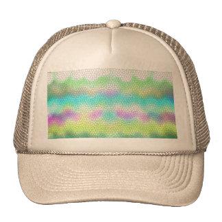 Green Purple Teal Ikat Chevron Zigzag Trucker Hat