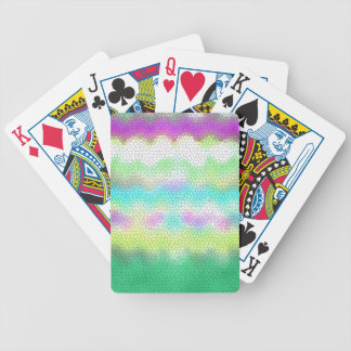 Green Purple Teal Ikat Chevron Zigzag Bicycle Playing Cards