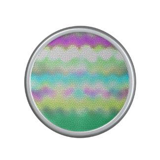 Green Purple Teal Ikat Chevron Zigzag Speaker