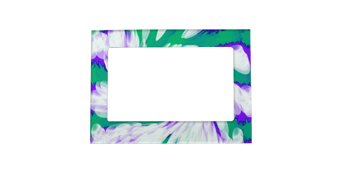 Green Purple Tie Dye Swirl Magnetic Frame Zazzle