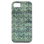 Green & Purple Vintage Damask iPhone 5 Cases