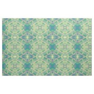 Green Purple Yellow Geometric Pattern Fabric