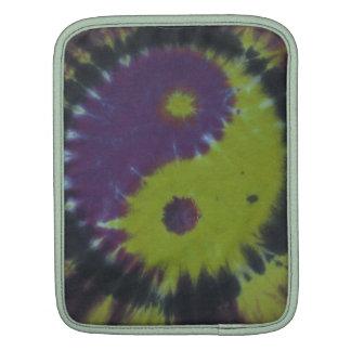 Green Purple Yin Yan Tie Dye iPad Sleeve