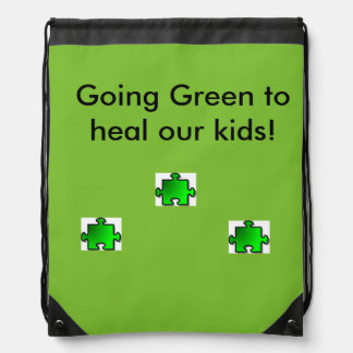 Green Puzzle Bag