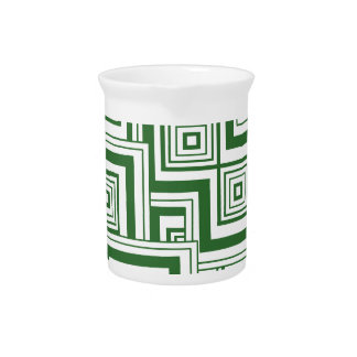 Green Puzzle Pitcher