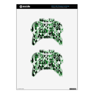 green pyramid pattern 06 xbox 360 controller decal