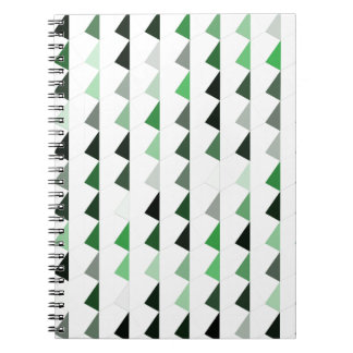 green pyramid pattern 08 note books