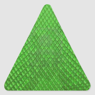 GREEN PYTHON SNAKE SKIN TEXTURE TRIANGLE STICKERS