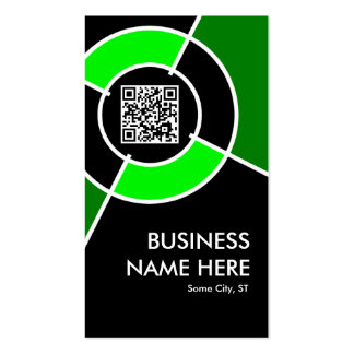 green QR code and logo target Double-Sided Standard Business Cards (Pack Of 100)
