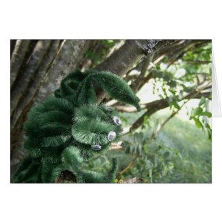 Green Quad Stare Transylvania Spider Card