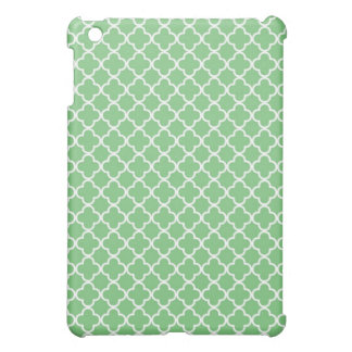 Green Quatrefoil Clover Pattern Case For The iPad Mini