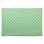 Green Quatrefoil Clover Pattern Place Mat