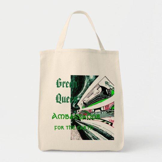"""""""Green Queen"""" Tote Bag"""