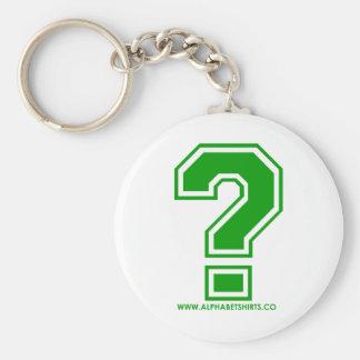 Green Question Mark Keychain