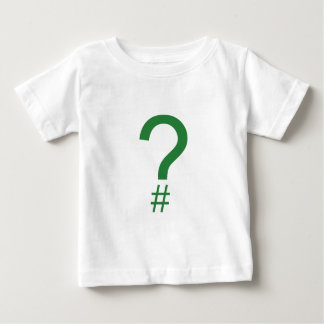Green Question Tag/Hash Mark Baby T-Shirt