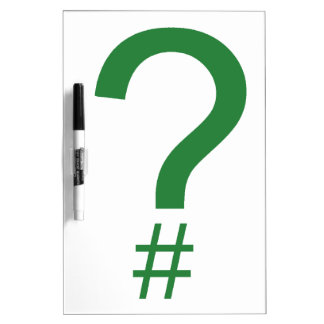 Green Question Tag/Hash Mark Dry-Erase Board