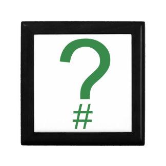 Green Question Tag/Hash Mark Gift Box