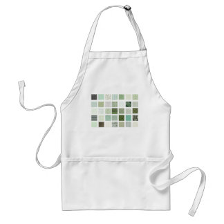 Green quilt mosaic pattern adult apron