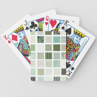 Green quilt mosaic pattern bicycle poker deck
