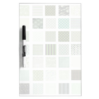 Green quilt mosaic pattern Dry-Erase whiteboards