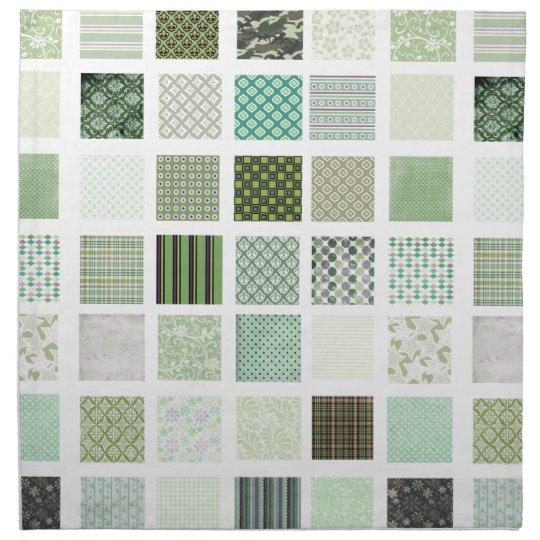 Green quilt mosaic pattern napkin