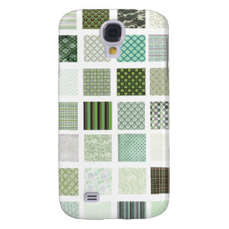 Green quilt mosaic pattern samsung s4 case