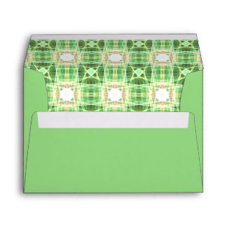 Green quilt pattern envelope