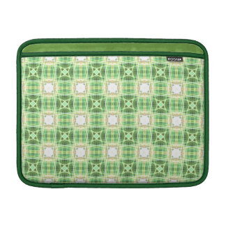 Green quilt pattern MacBook air sleeve
