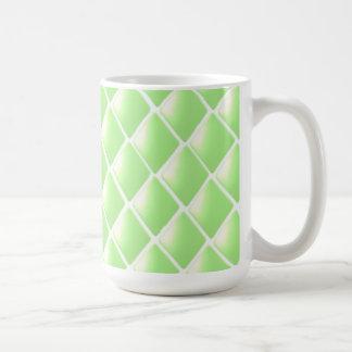 Green Quilted Diamond Pattern Mug