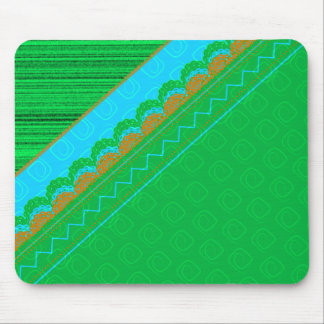 Green Quilted print Mouse Pad