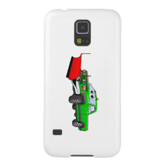 Green R Pick Up Snow Plow Cartoon Galaxy S5 Cases