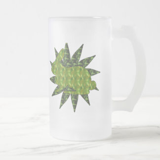 Green Rabbit 16 Oz Frosted Glass Beer Mug