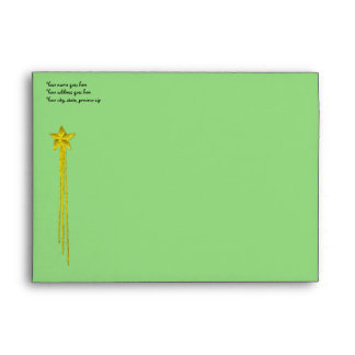Green Rabbit Envelope