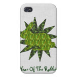 Green Rabbit iPhone 4 Cover