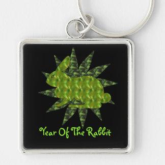 Green Rabbit Keychain