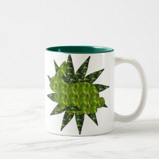Green Rabbit Two-Tone Coffee Mug