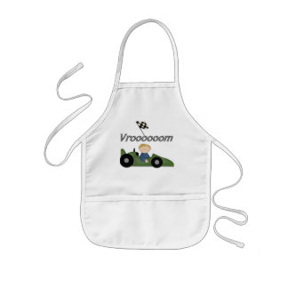 Green Race Car Vroom Tshirts and Gifts Kids' Apron