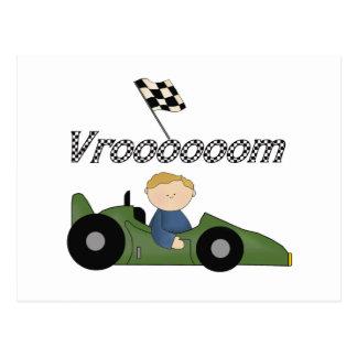 Green Race Car Vroom Tshirts and Gifts Postcard
