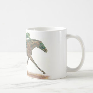 Green Race horse and jockey Coffee Mug