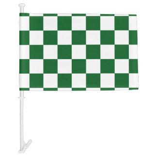 Green Racing Checkered Flag Display Customizable