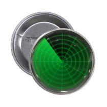 green radar pattern pinback button