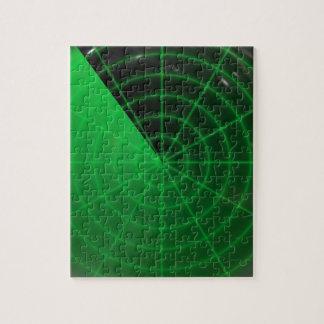 green radar pattern jigsaw puzzles