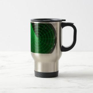 green radar pattern travel mug