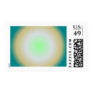 Green Radial Postage Stamp