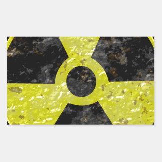 Green Radiation Rectangular Sticker