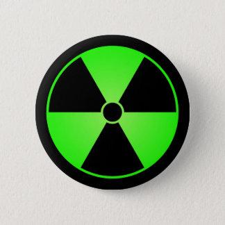 Green Radiation Symbol Button