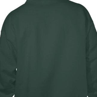 Green Radiation Symbol Hooded Sweatshirts