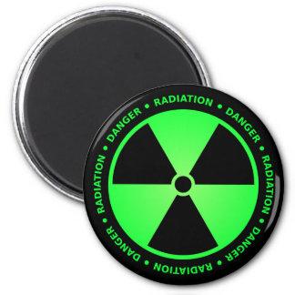 Green Radiation Warning Magnet