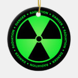 Green Radiation Warning Ornament Christmas Ornament